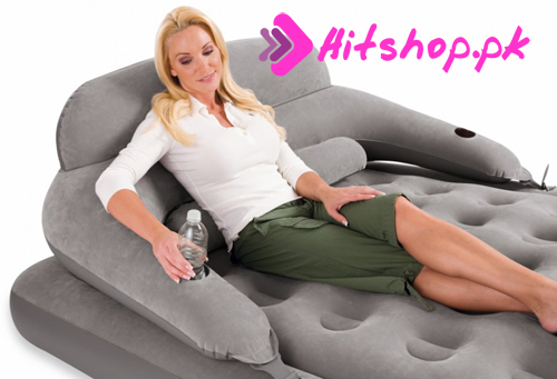 Air Lounge Bed with Backrest 68916