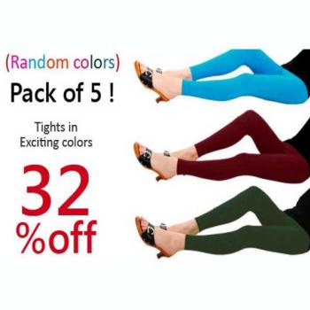 Pack of 5 ! Tights in Exciting colors