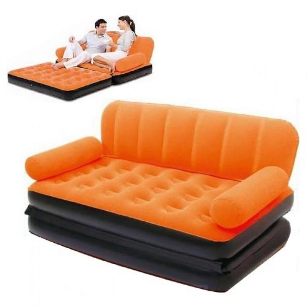 COLORFULL AIR LOUNGE DOUBLE SOFA CUM BED 5 IN 1