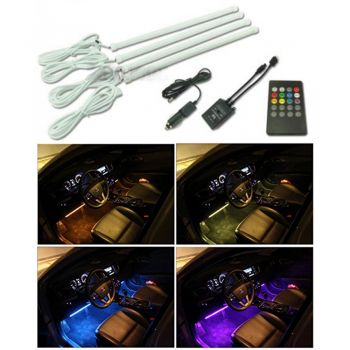 8 Colors LED Car Interior Atmospheric Lights With