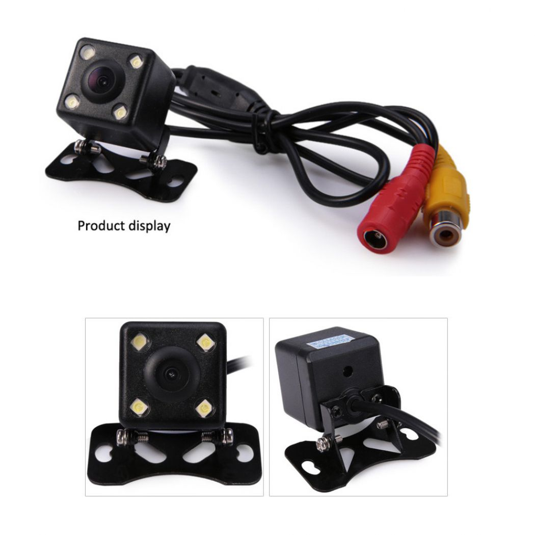 Waterproof 4 LED Night Vision Car CCD Rear View Ca
