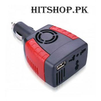 75W Car Plug DC-AC Power Inverter USB Port