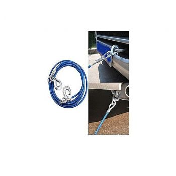 Car Emergency Metal Tow Rope - Blue