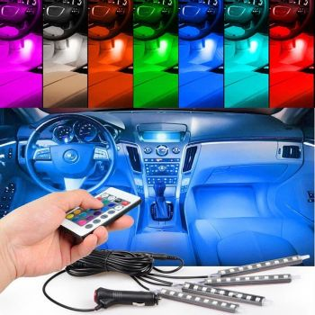 Car Interior Atmosphere Remote Control Light Decor