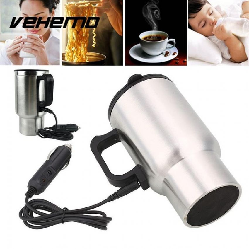 1 Travel Car Coffee Drinks Electric Heated Cup 450ml