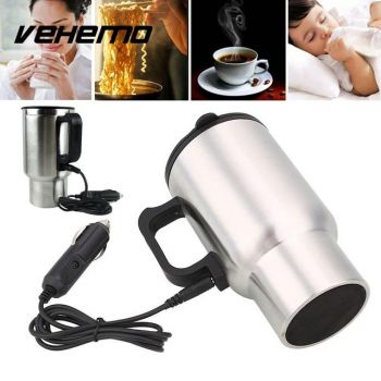 Travel Car Coffee Drinks Electric Heated Cup 450ML