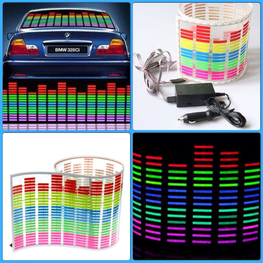 Car LED Music Sticker ~ Maximum Size: 114cm x 30cm