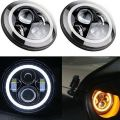 Jeep LED Projection Headlight with Round DRL - 7-i