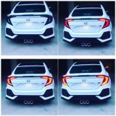 Honda Civic Sequential Running Back Lamps Smoke -