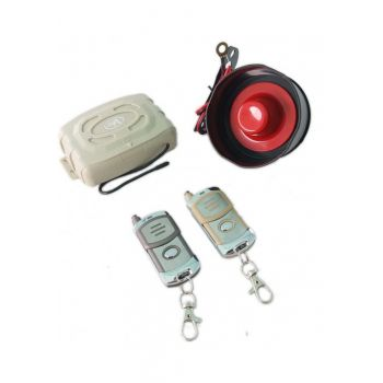 HEAVY DUTY CAR ALARM SYSTEM WITH METAL REMOTE CONT