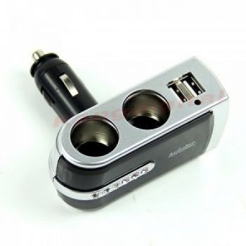 2in1 Car Socket With Usb Port
