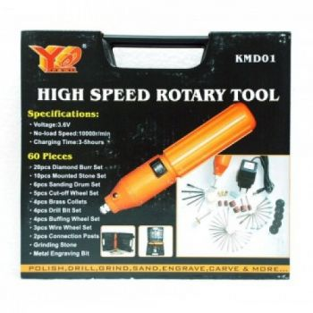 60 Pcs High Speed Rotary Tool Kit