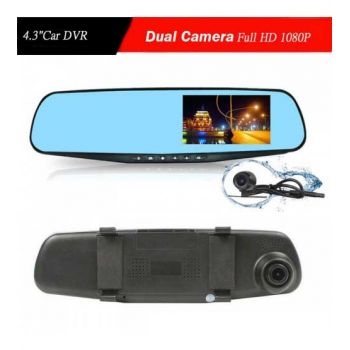 Car 1080P Rearview Mirror Dual Camera