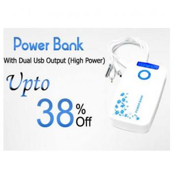 Smart Power Bank With Dual USB Output (High Power)
