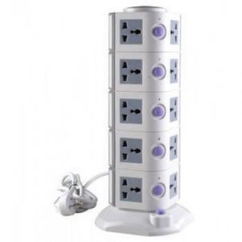 Vertical Secure Extension Multi Sockets