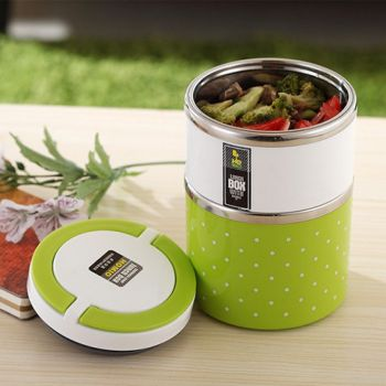 Homeo Double Layer Stainless Steel Lunch Box