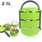 3 Layers Square Stainless Steel Lunch Box