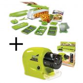 Deal of 2 Swifty Knife Sharpner And Nicer Dicer Pl