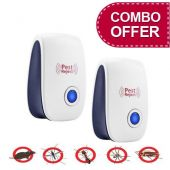 Pack of 2 Pest Control Ultrasonic Repellent Electr