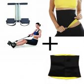 Set of 2 Fitness Set Hot Belt And Tummy Trimmer