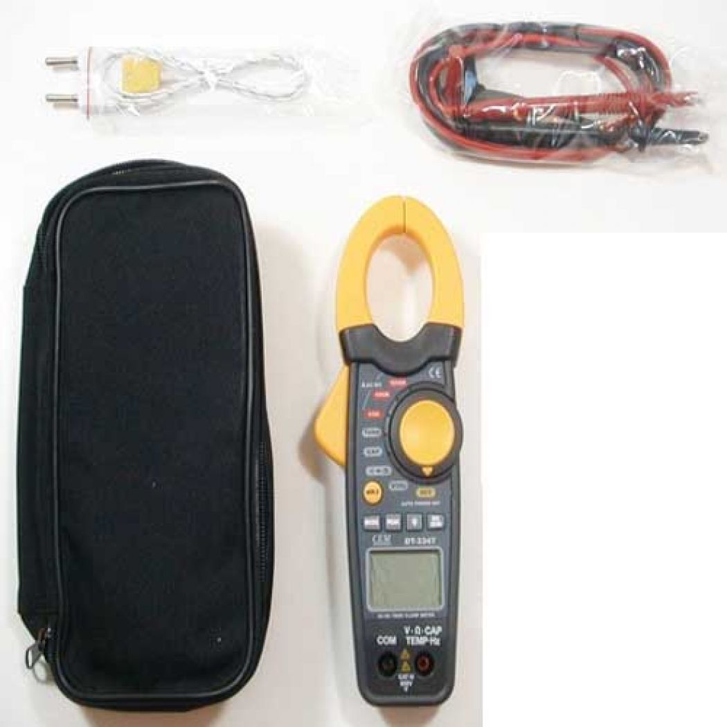 CEM DT-3347 1000A AC DC Clamp-Table Clamp Meter Te