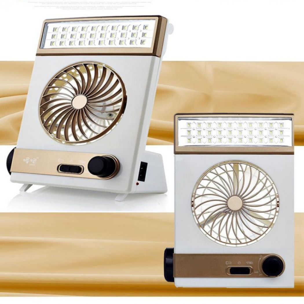 LED Solar Energy Fan with Lamp