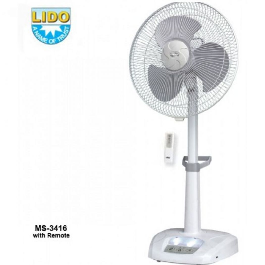 Lido Rechargeable Fan With Remote