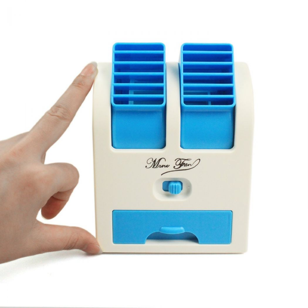 Portable Dual-Port USB Air Cooler Fan