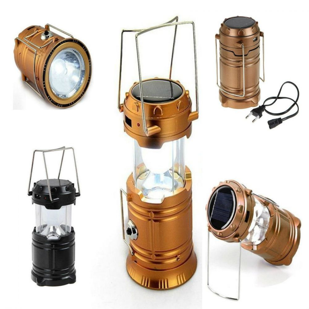 Combo of Solar Rechargeable Lantern and USB Rechargeable Fan