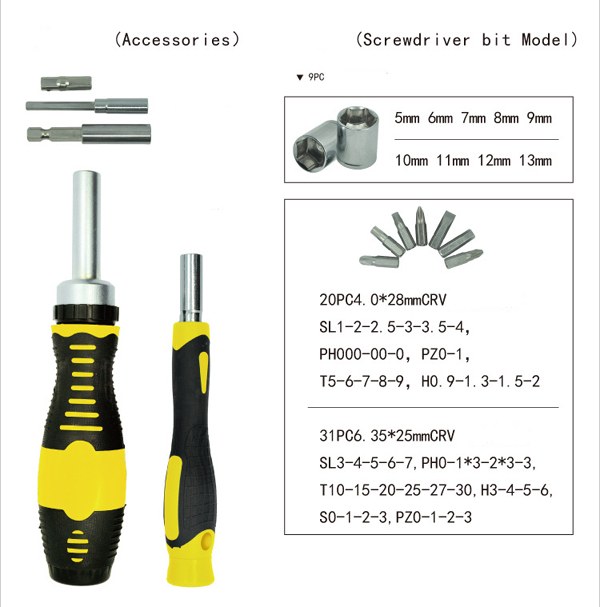 65 piece ratchet screwdriver and tool bit set in pakistan hitshop. Black Bedroom Furniture Sets. Home Design Ideas