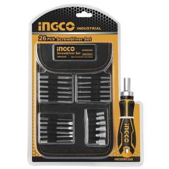 Screwdriver Bit Set - 26 Pcs Black-Silver