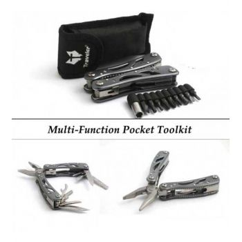 Stainless Steel Multi-Function Pocket Toolkit