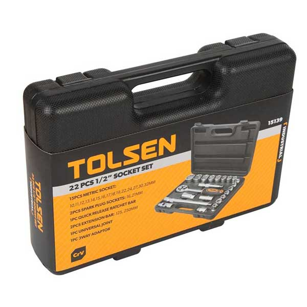 Tolsen 22 Pcs Socket Set