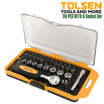 Tolsen 38 Pcs Bits and Socket Set