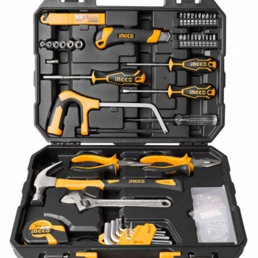 Ingco Tool Kit 117 PCS-Black Yellow