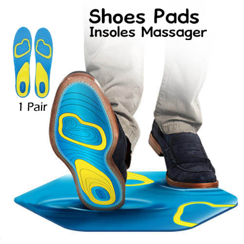 Shoes Pads Cushion Heel Cup Insoles Massager