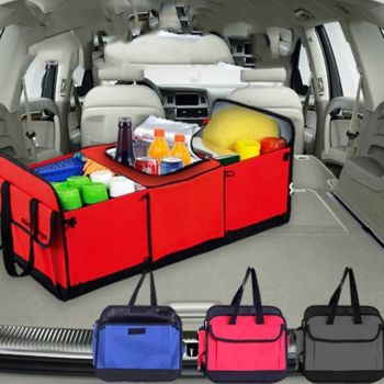 Multi-Purpose Car Trunk Organizer And Cooler Stora