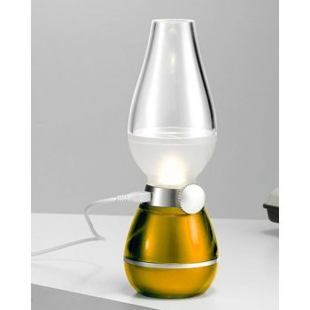 Retro Lamp- Blow Control - Gold
