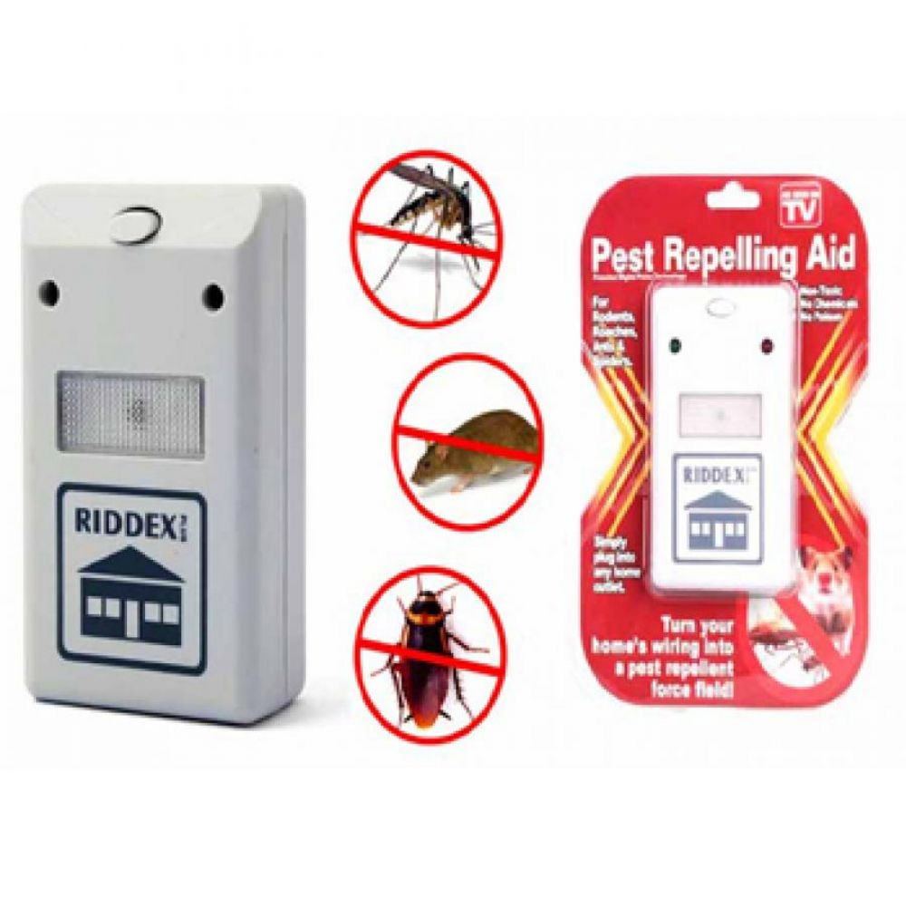 Pest Repelling Aid Dual Ultrasonic Mouse Mosquito Repeller Pack Of 2