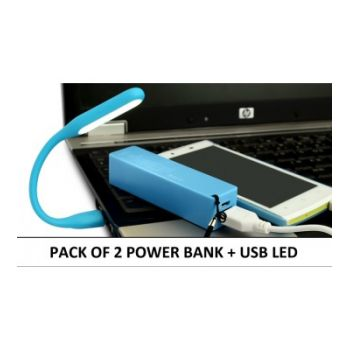 Pack Of PORTABLE LED LAMP  POWER BANK