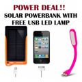 Power Deal  Solar PowerBank 7200Mah With Free USB