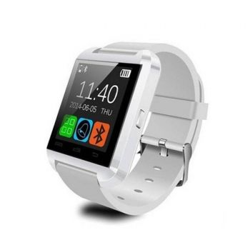 Tech World U8 Smart Watch 1 48  Touchscreen White