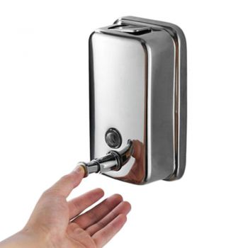 Bathroom Wall Mounted Stainless Steel Liquid Soap