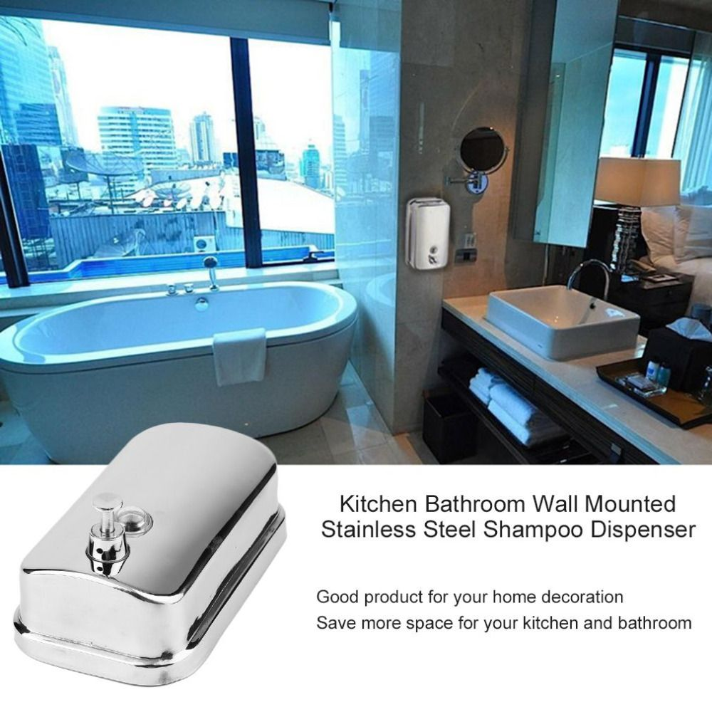 Bathroom Wall Mounted Stainless Steel Liquid Soap Dispenser