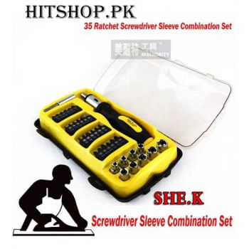 35 Ratchet Screwdriver Sleeve Combination Set