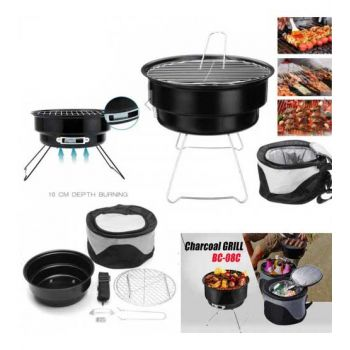 Portable Barbecue Grill With Cooler Bag