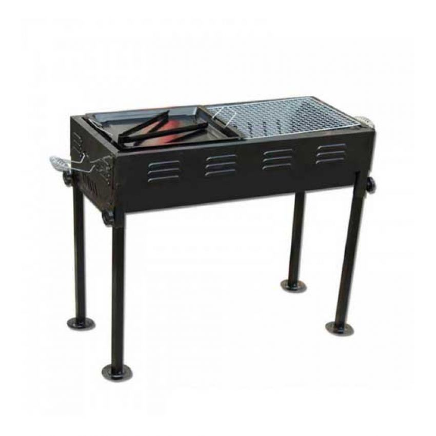 1 Rectangle Bbq Grill Outdoor Portable Folding Barbecue