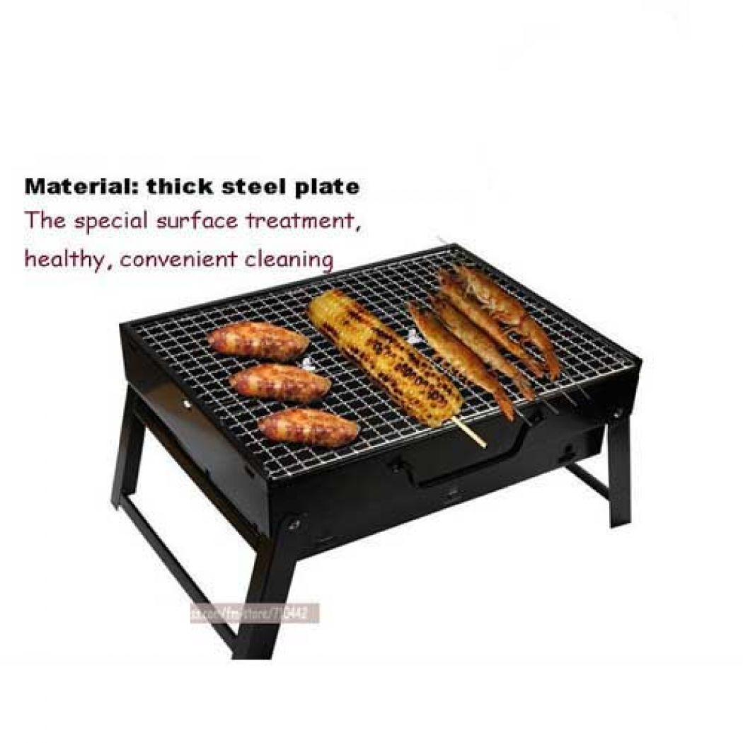 Portable Foldable BBQ Barbecue Charcoal Grill