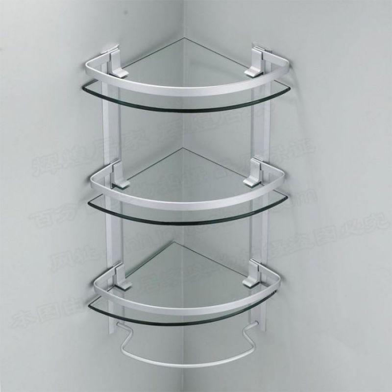 3 layer corner glass shelves for bathroom in pakistan