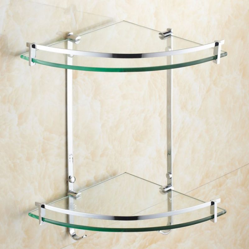 Excellent Original High Quality 2 Layers Bathroom Corner Wall Shelf In Pakistan
